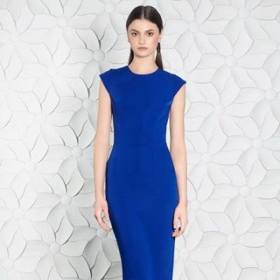Rochie de cocktail conica din stretch-crepe SKA533