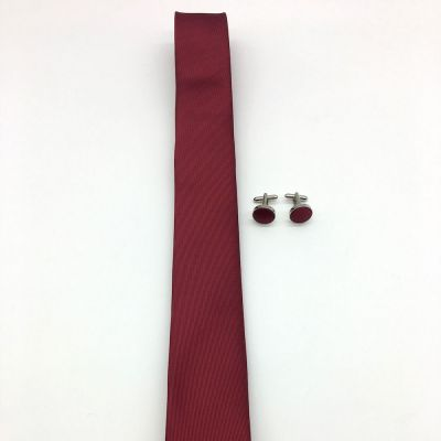Set bordo cravata slim si butoni by SelfEvents