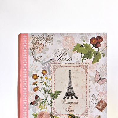 Cutie de dar Paris in forma de carte