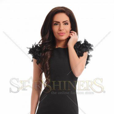 Rochie Ana Radu Impressive Shoulders Black