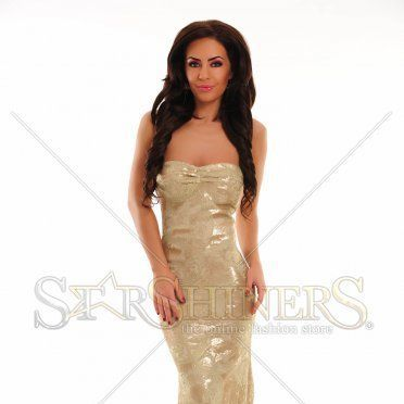 Rochie LaDonna Magic Drawing Gold