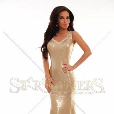 Rochie LaDonna Released Shine Gold