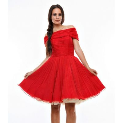 Rochie rosie Limited Collection, Nicole Enea
