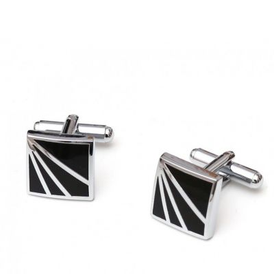 Butoni camasa, Black and Silver Square, Grazie Filipeti