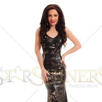 Rochie LaDonna Caressing Shine Black