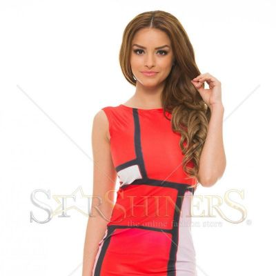 Rochie Ana Radu Cheerful Figures Red