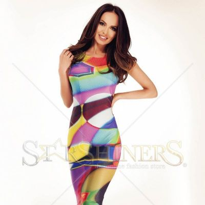 Rochie Ana Radu Cheerful Figures Green