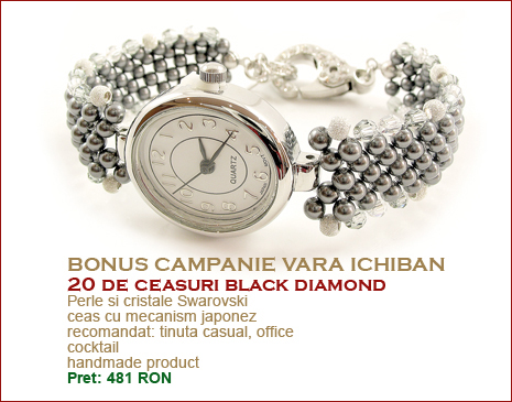 ceasuri bijuterie Ichiban, model Black Diamond
